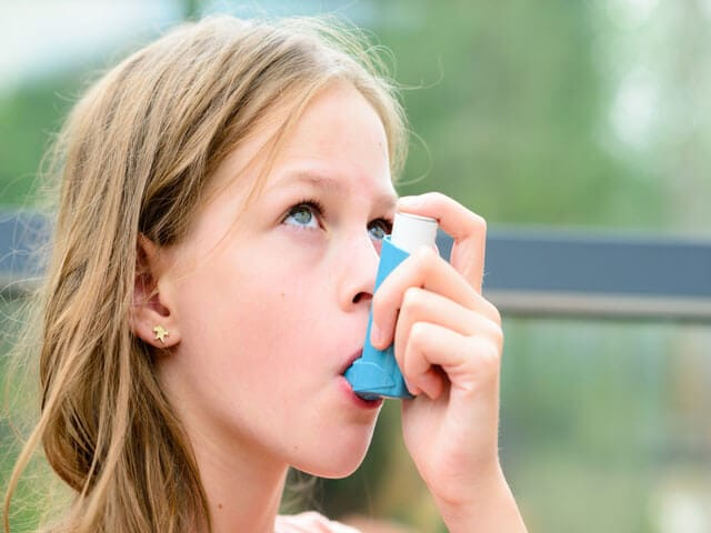 Minnick's childhood asthma
